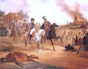 Napoleon i Poniatowski pod Lipskiem
